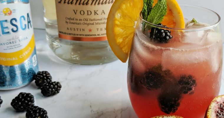 Blackberry Blood Orange Cocktail Refresher