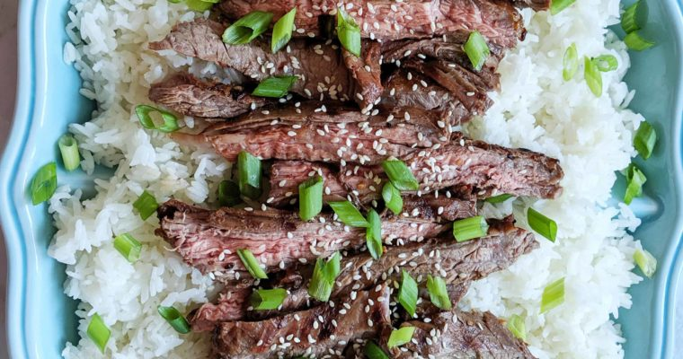 Grilled Asian Marinated Skirt Steak