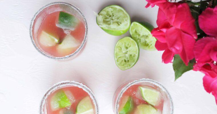 Easy Watermelon Margarita (On The Rocks)