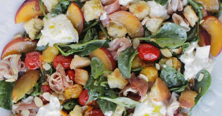 Summer Blistered Tomato Peach Salad