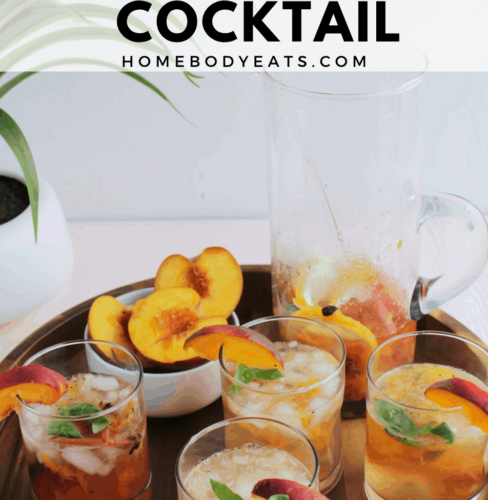 Grilled Peach & Lemon Rum Cocktail
