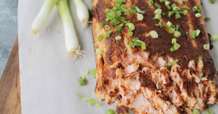 Oven Roasted Garlic Adobo Mexican Salmon