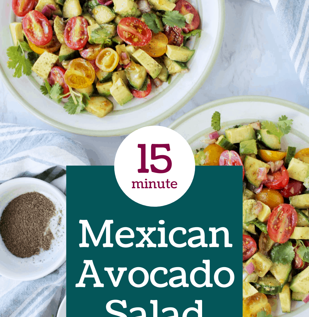 Mexican Avocado Salad Pinterest
