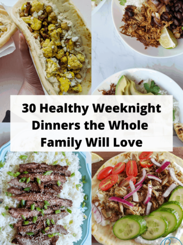 healthy dinner plan for the week