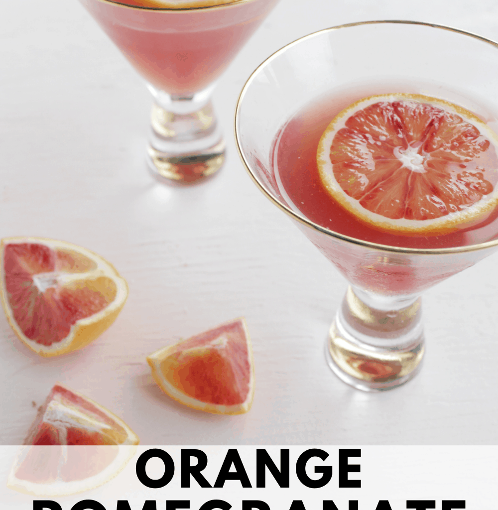 orange pomegranate cocktail