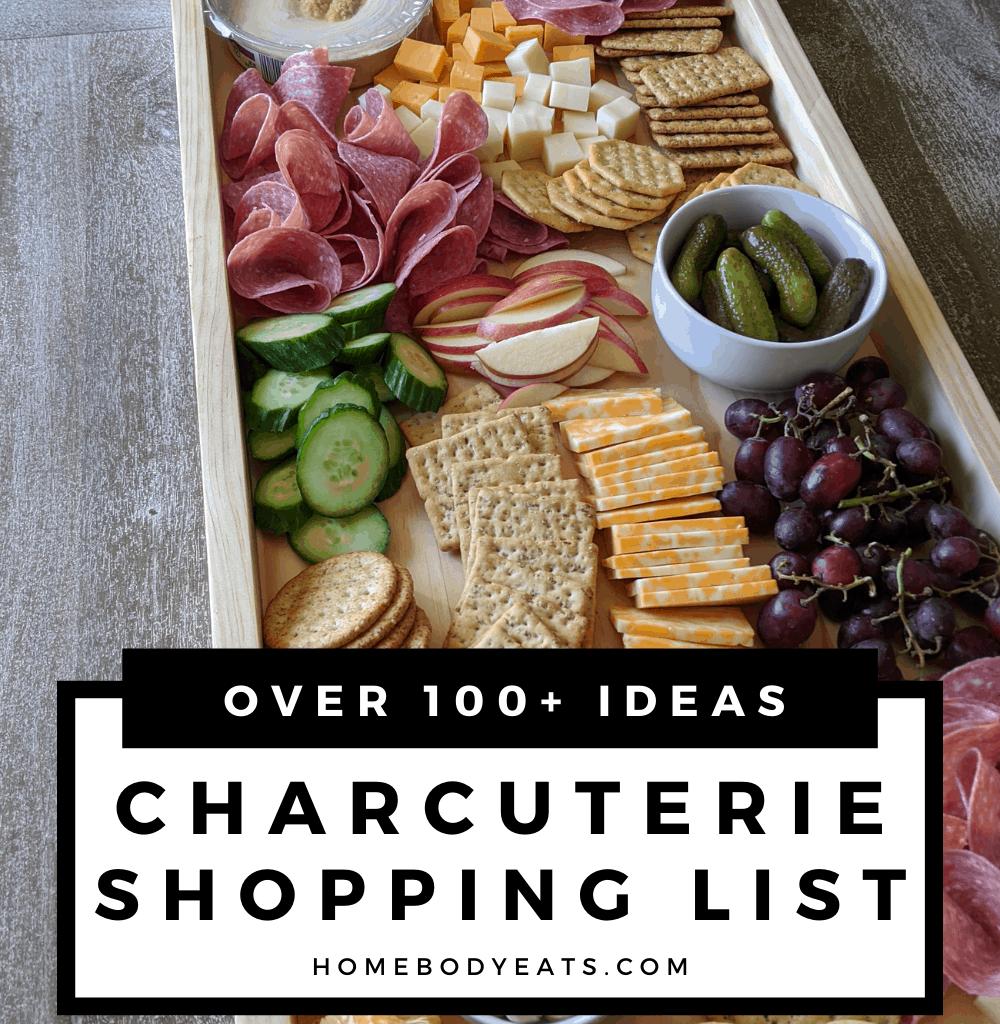 charcuterie board shopping list