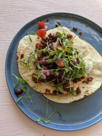chorizo taco dinner idea
