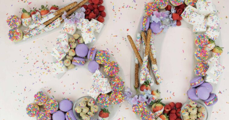 Birthday Charcuterie Board | Personalized Birthday Dessert Idea