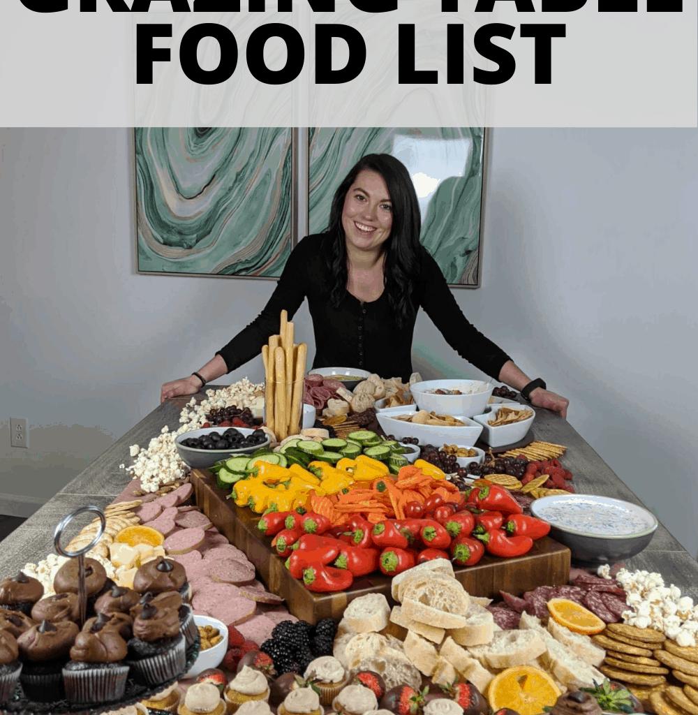 grazing table food list