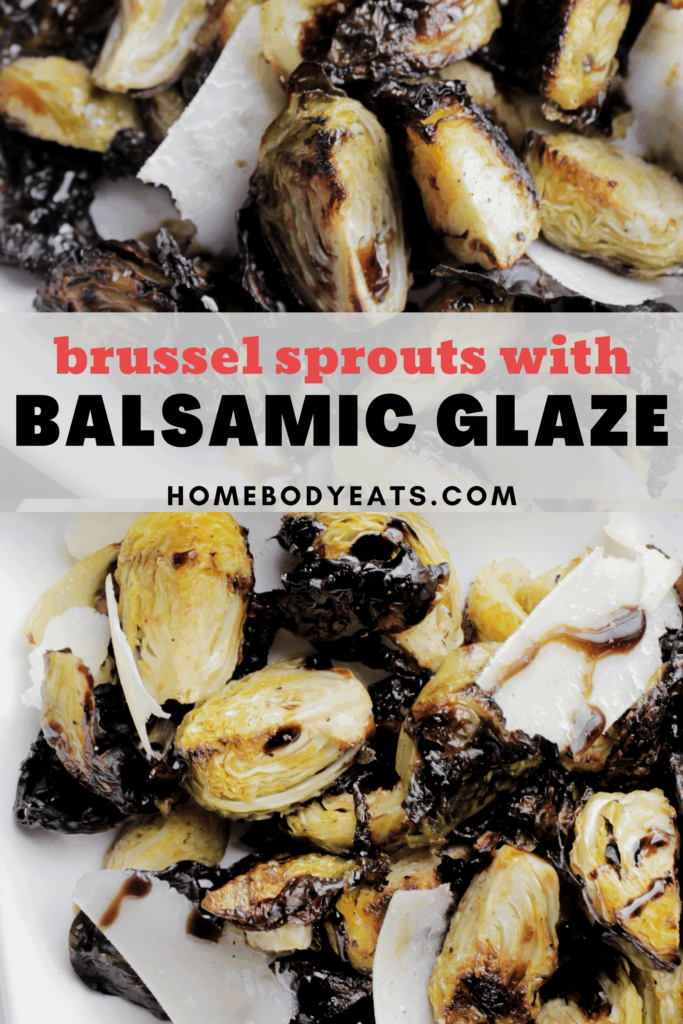brussel sprouts with balsamic glaze pin