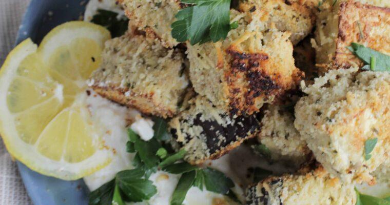 30 Minute Mediterranean Crispy Roasted Eggplant