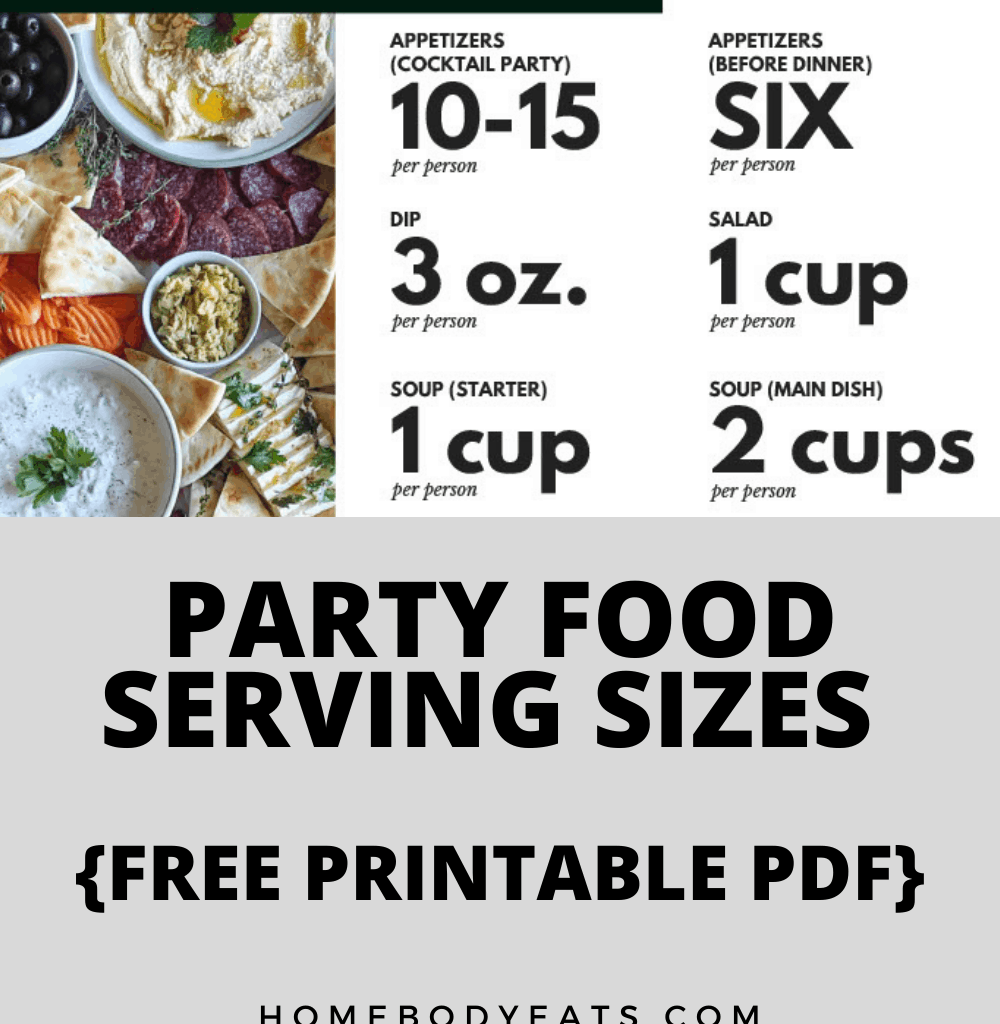 food quantity for a party