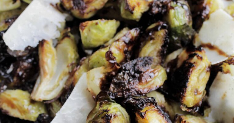 4 Ingredient Balsamic Glaze Brussel Sprouts