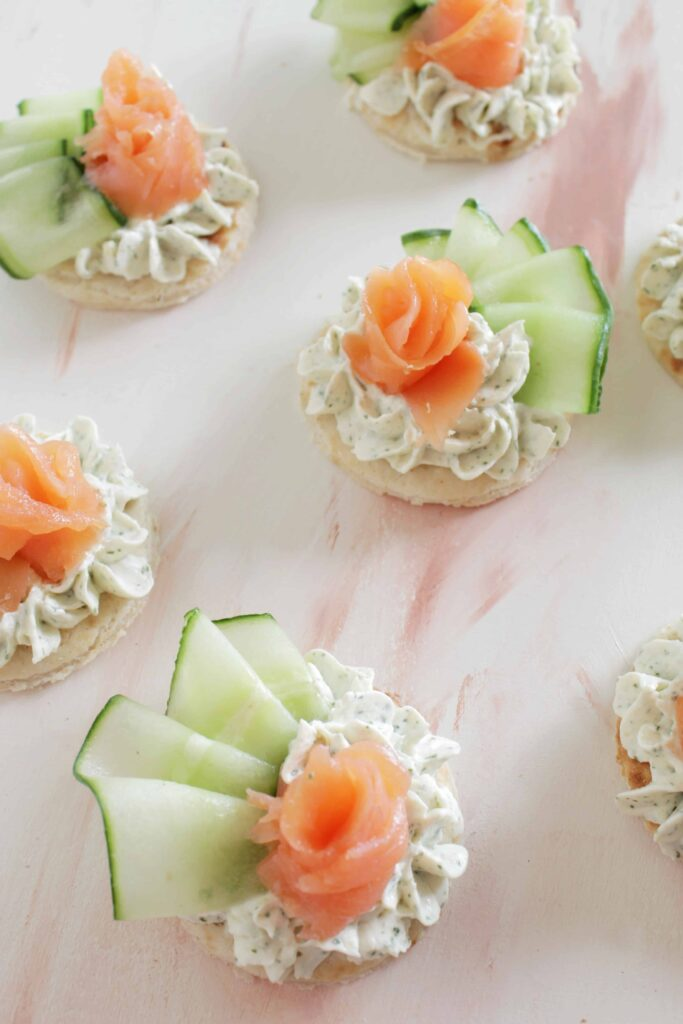 salmon canapes appetizers