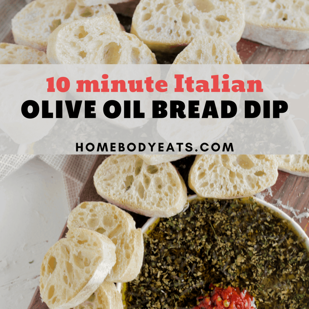 olive oil bread dip with french bread